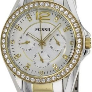 FOSSIL Women's Two Tone Fossil Riley